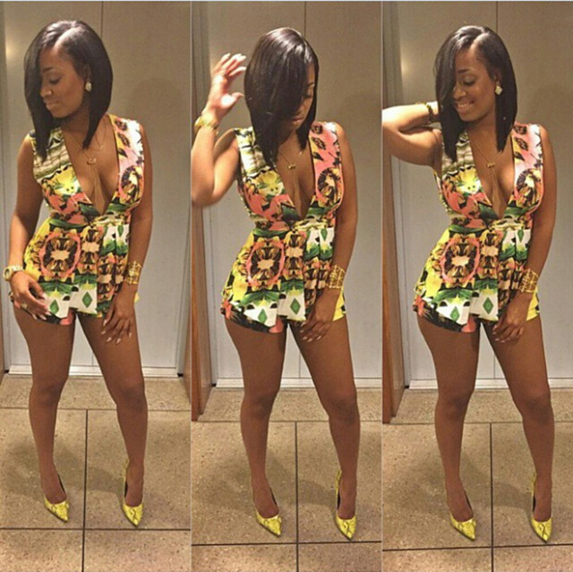 fb3e3ccaa0276 rompers womens jumpsuit summer sexy club bandage jumpsuit outfits print  Pants bodycon jumpsuit women s casual sport swear