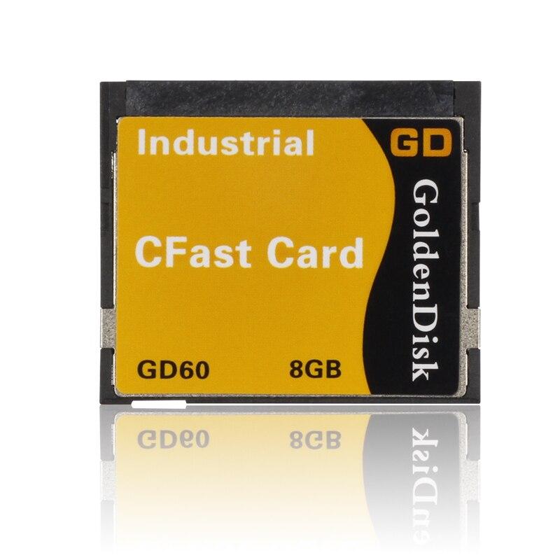 Free Shipping GoldenDisk Cfast SSD Memory Cards 128GB SATA II SSD MINI Hard disks 3Gbps Quad Channels NANA MLC original SSD