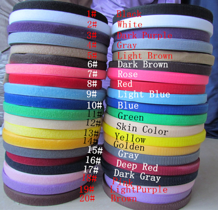 Fastener Magic Tape with Hook and Loop for stick fabric bags garment clothes dress toys shoes 25meter/ roll,width 2cm