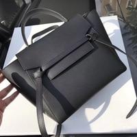 first layer cow leather handbag belt bag clutch bag palm print cowhide swing wings one shoulder bags