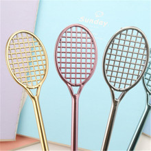 Creative stationery lovely tennis racket shape insert bullet pen gel pen Student holiday gift(China)