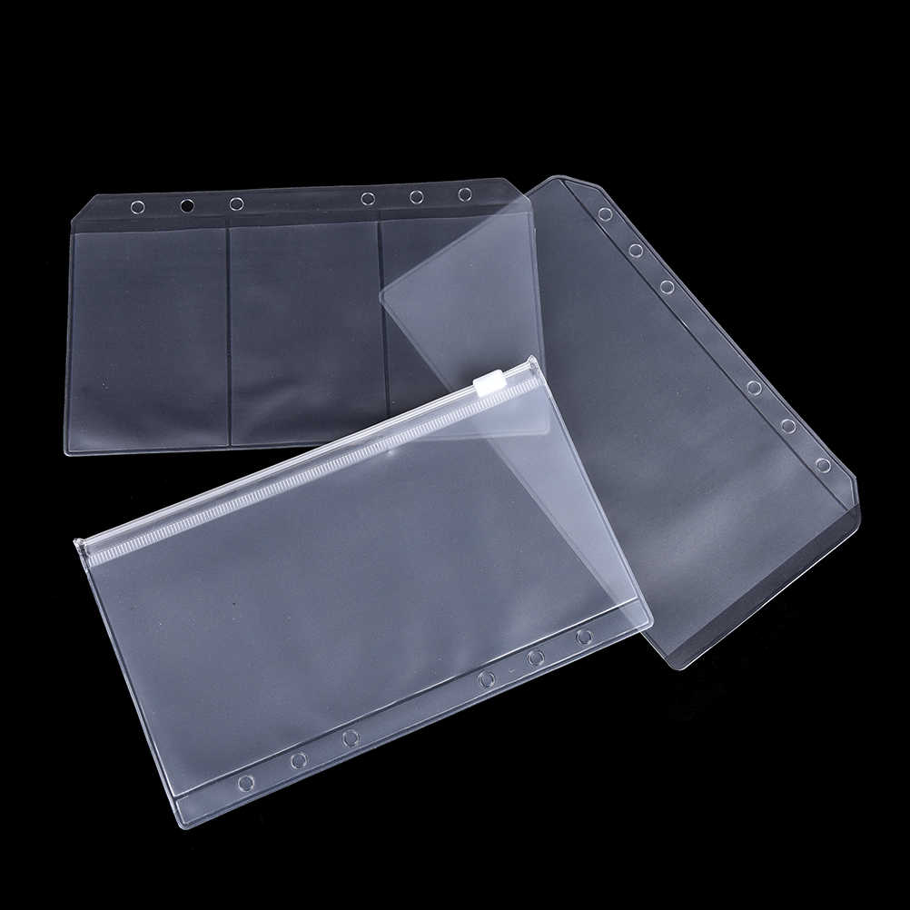 A5/A6 Transparante Refill Organiser Zip Lock Envelop Bindmiddel Pocket Briefpapier