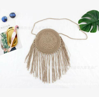 Round Paper Rope Beach Bag...
