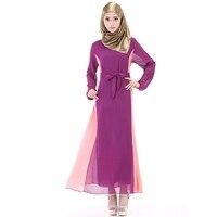 Chiffon Arabic Women Dress Abaya Hidjab Fashion Dress Modern Islamic Clothing