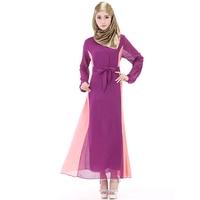 Chiffon arabisch vrouwen jurk abaya hidjab mode jurk moderne islamitische kleding