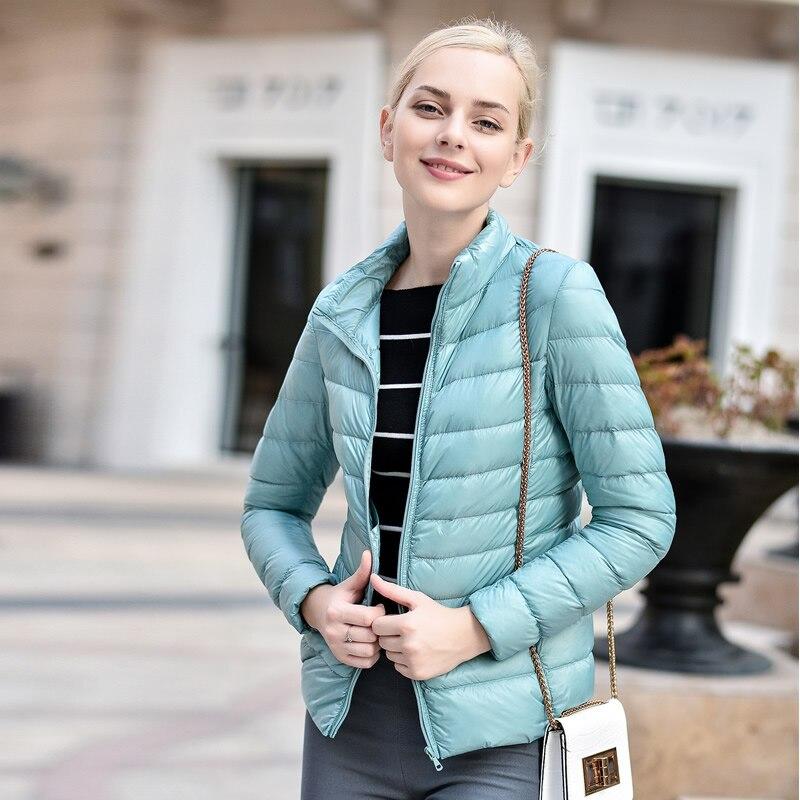 Women sort Winter Down Coat 90% White Duck Down Light Jacket Female warm Outerwear Parka Jacket Plus size 6XL