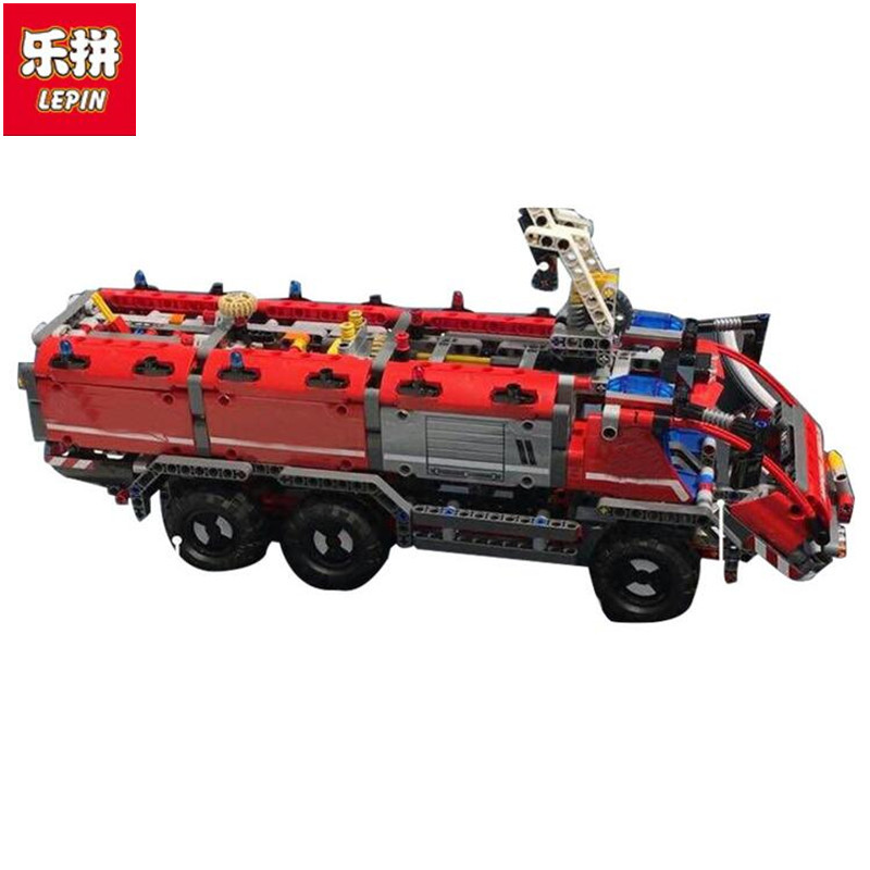 Lepin 20055 Genuine Technic Mechanical Series The Rescue Vehicle Set Children Educational Building Blocks Bricks Toys Gift lepin 20076 technic series the mack big