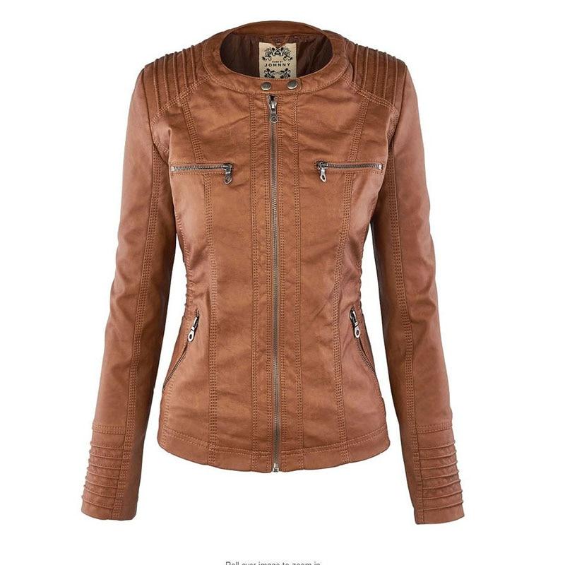 HTB1nJJTaYH1gK0jSZFwq6A7aXXaz Faux Leather Jacket Women 2021 Basic Jacket Coat Female Winter Motorcycle Jacket Faux Leather Suede PU Zipper Hoodies Outerwear