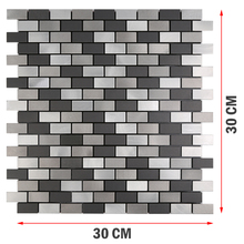 3D Art Metal Peel and Stick Mosaic Wall Tiles 12 Inch Brushed Stickers Miroir Muraux for Kitchen Backsplash 4 Pieces Per Lot карандаш помада для бровей brow pomade 3 25г 02 chatain