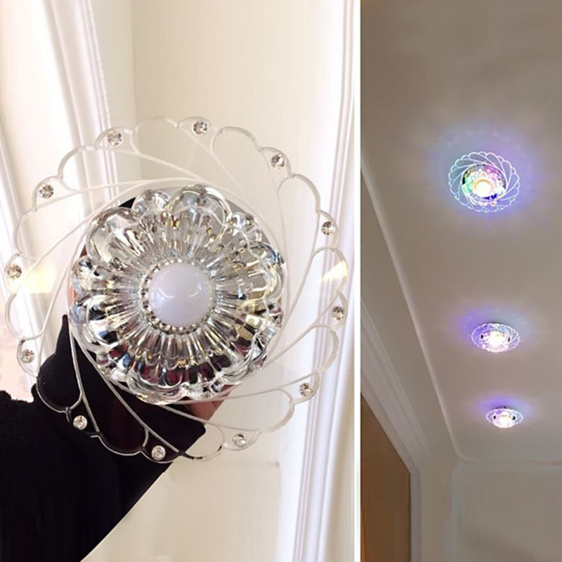 Modern LED Crystal Ceiling Light Circular Mini Ceiling Lamp Luminarias Rotunda Light For Living Room Aisle Modern LED Crystal Ceiling Light Circular Mini Ceiling Lamp Luminarias Rotunda Light For Living Room Aisle Corridor Kitchen