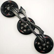 Powerslide núcleo 12.6 inches inches polegadas 3x125mm base de patinação 165mm 195mm montagem em linha velocidade patins quadro maratona corrida 125mm roda