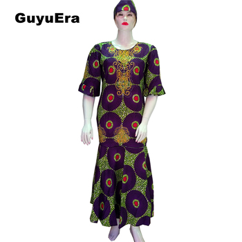 GuyuEra 2018 New African Dresses for Women African Dashiki WAX Fabric  Traditional Embroidery Rhinestone Process Plus SizeXL-XXXL a64e24801583