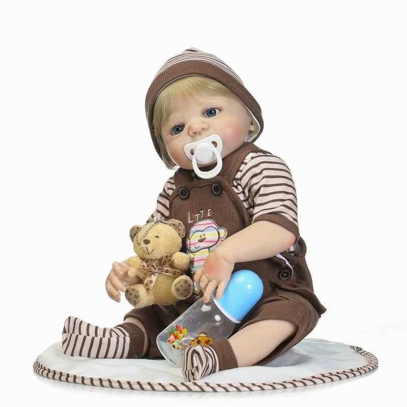 """Бренд bebe reborn girl Кукла reborn 22 """"полностью силиконовый виниловый корпус для детей игрушки для игр дома bebe подарок boneca reborn"""