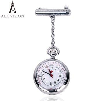 ALK VISION Fob Nurse Pocket Watch Top Brand Quartz Pendants Clock Brooch Medical Watches 2020 Rose Gold Silver
