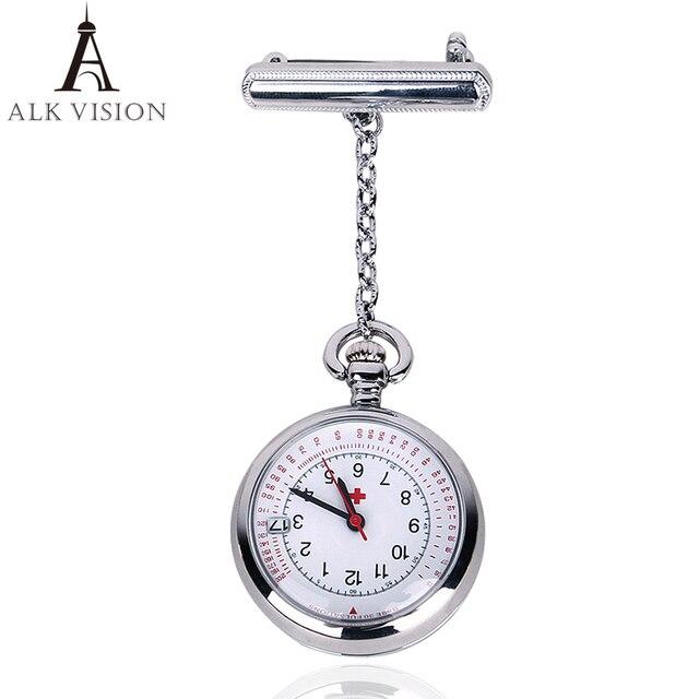 ALK VISION nurse watch fob nurse pocket watch doctor 2017 top brand quartz brooc