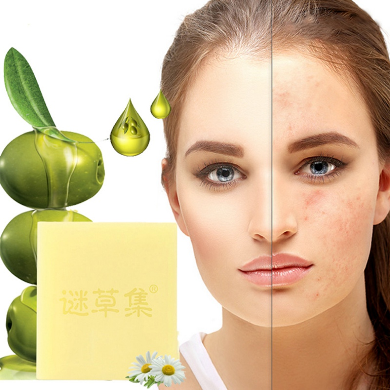 90g Chamomile Olive Oil Handmade Soap Deep Cleaning Oil Control Moisturizing Whitening Body Face Skin Care Soap