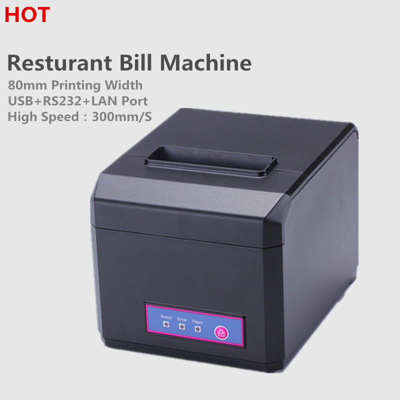 ФОТО  HOT Sale! HP-E810 80mm/58mm  thermal Receipt printer with USB&RS232&LAN Interface Auto Cutter Receipt printer for POS