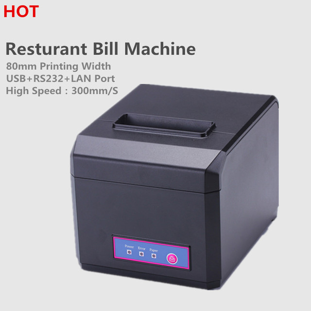 HOT Sale! HP-E810 80mm/58mm  thermal Receipt printer with USB&RS232&LAN Interface Auto Cutter Receipt printer for POS