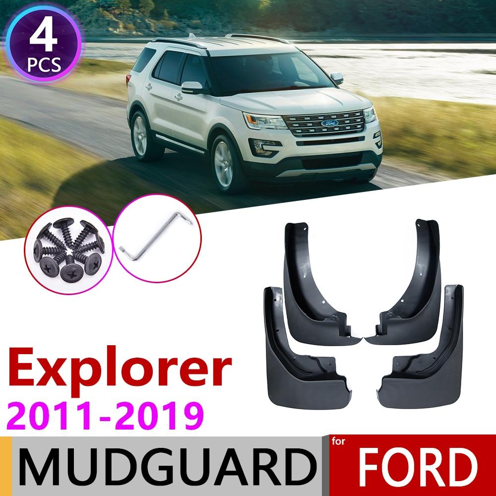 4Pcs fit for Ford Explorer 2011-2018 Mud Flap fender Splash Guard Mudguard bar