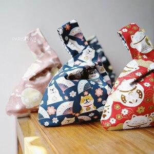 Japanese retro handbag wristband bag Shi