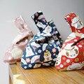 Japonês retro bolsa pulseira saco shiba inu sorte gato drawstring saco bolsa sundries saco do telefone chave
