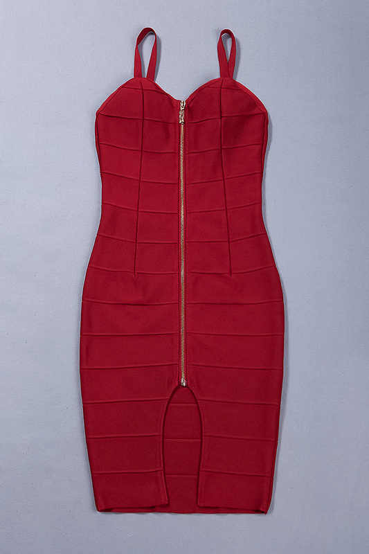 Красное Бандажное платье на молнии, модное vestidos de fiesta 2019, новые платья, женские вечерние платья для ночного клуба, одежда для нового года, вечернее платье