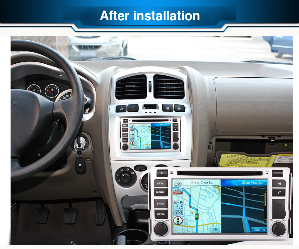 2DIN Android OCTA / Quad Core Fit HYUNDAI SANTA FE 2006 2007-2011 2012Цена за DVD плеър Мултимедия GPS DVD НАВИГАЦИЯ