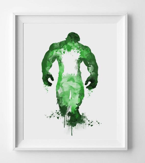 Hulk Watercolor Print Paper Fine Art Paper Hulk Poster ...