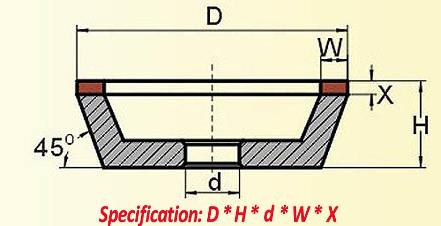 150 mm-es, 125 mm-es, 100 mm-es gyémánt csiszolókorong-kupa, 180 - Csiszolószerszámok - Fénykép 4