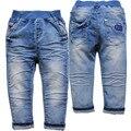 3907 azul bebê calças de brim jeans meninos meninas calça casual calças primavera outono calças jeans macios das crianças dos miúdos roupas da moda