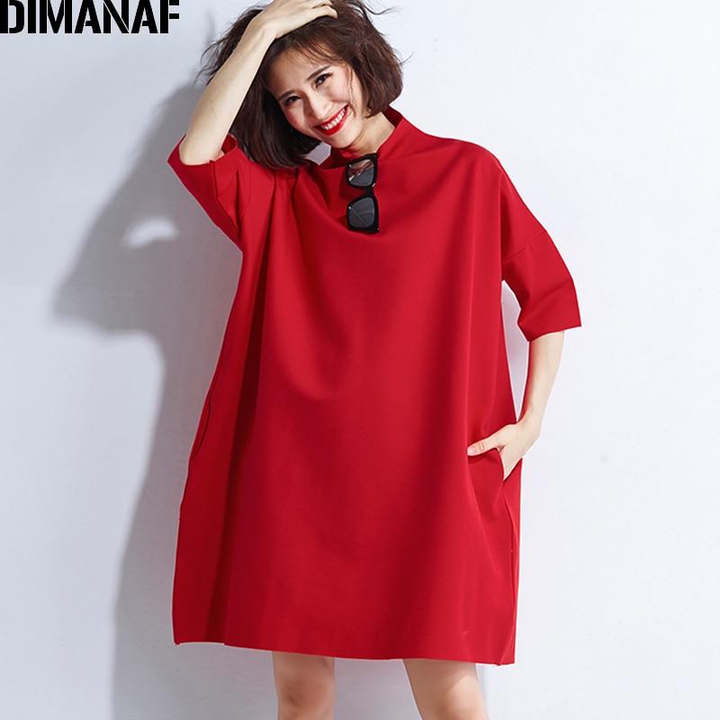 DIMANAF Autumn Dresses Women Turtleneck Cotton Knitting Femme Clothes Elegant Solid Vestidos Plus Size Fashion Ladies Dress 2018 3