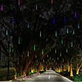 Día de fiesta Enciende Impermeable 30 cm Meteor Led Luz de La Lámpara 100-240 V Luz de la Secuencia de La Boda de Navidad Decoración Del jardín