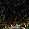 Luzes do feriado À Prova D' Água 30 cm Meteoro Tubes Chuveiro de Chuva Led Lâmpada Luz 100-240 V Luz Da Corda Do Natal Casamento Decoração do jardim