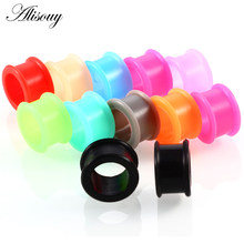 Alisouy 3-25mm Silicone Ear Plugs And Tunnels Piercing Expander Piercing Tunnel Ear Tunnels Stretchers Plug oreille Ear Gauges()