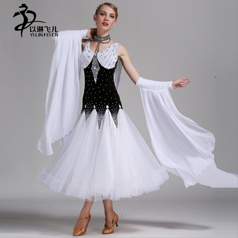 New Waltz Ballroom Dance Competition Dresses for Women Ballroom Tango Standard Dresses for adults