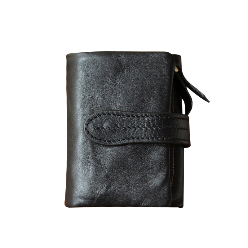 New 2017 Hasp Design Soft Genuine Leather Women Wallet Solid Short Card Holder Purse For Women Ladies Female Zipper Wallet casual weaving design card holder handbag hasp wallet for women