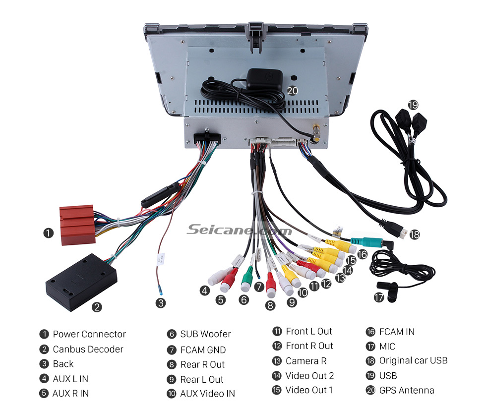 Seicane Android 60 Car Radio Gps Navigation System For 2008 2015 Mazda 6 Obd2 Wiring Diagram New Function