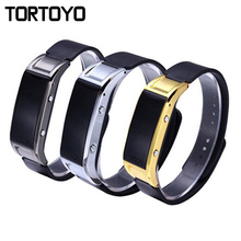 Fashionable Males's Ladies's Bluetooth Sensible Wristband Band Bracelet D8S Leather-based Strap for iPhone Andriod iOS Huawei Xiaomi Smartphone