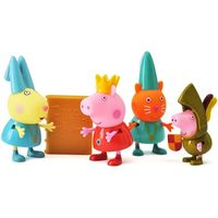 Genuine Peppa Pig 4pcs/set CHILDRENS ONCE UPON A TIME STORYTIME ACTION FIGURE PACK PLAY SET kids toy
