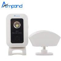 Divisi benvenuto motion sensor alert sistema di allarme senza fili porta campana campanello con ricevitore e trasmettitore home office security