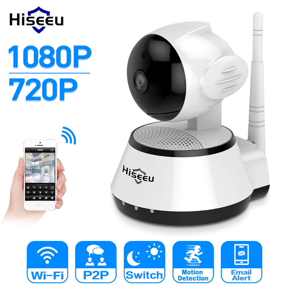 Hiseeu Home Security 720P/1080P IP Camera Wireless WiFi network Camera Surveillance HD 2MP Night Vision CCTV Baby Monitor P2P цена