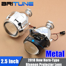 "2.5"" Pro-HL WST H1 Bixenon Projector Lens For H4 H7 Car Headlight Retrofit W/WO Gatling Gun Shrouds Silver/Black Full Metal Kit"