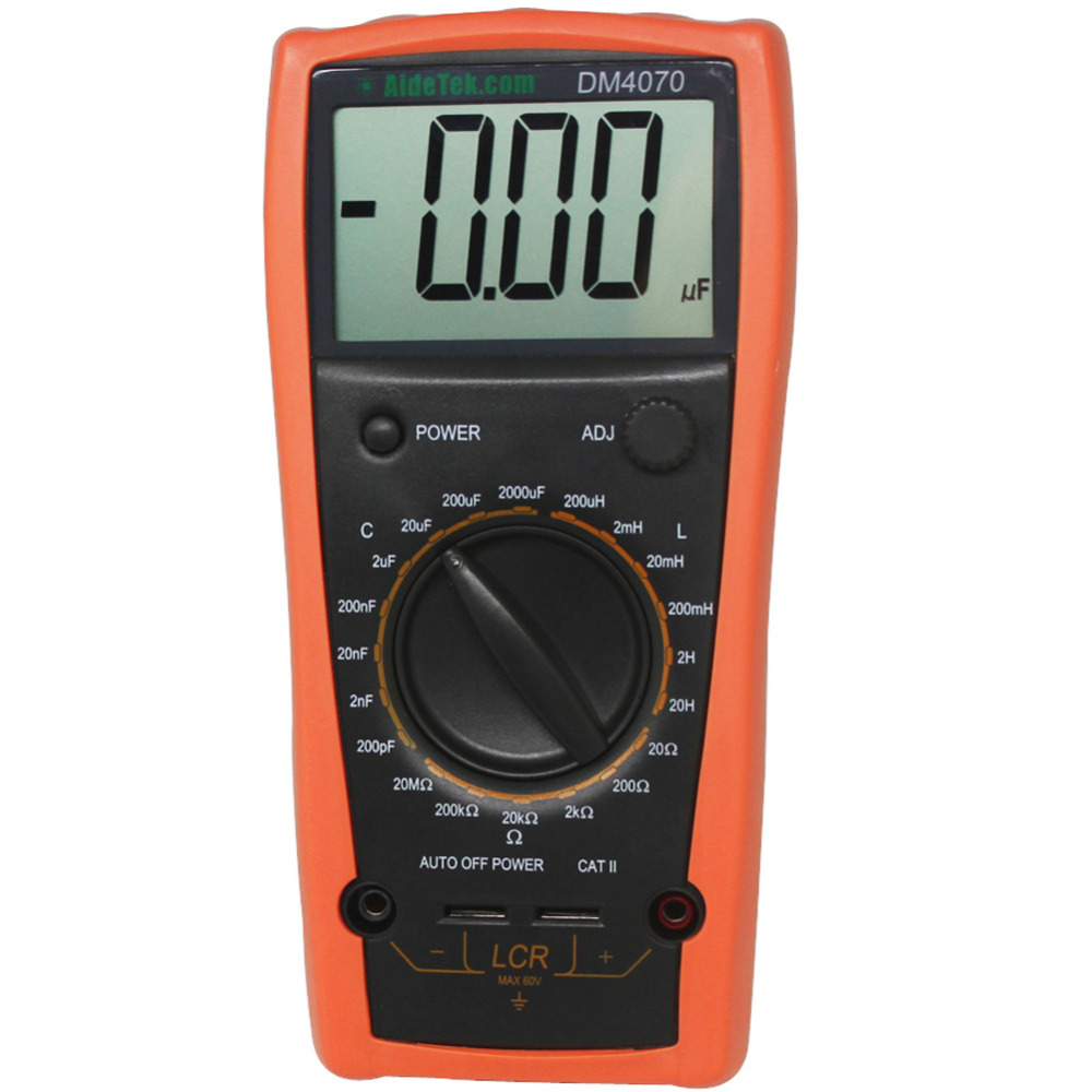 AideTek New DM4070 LCR meter capacitance 2000uF compared w/ multimeter Free Shipping lcr meter dy4070g dy6243g dy6013g