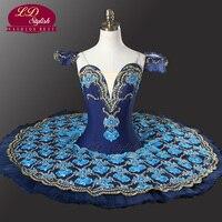 Wholesale Navy Professional Ballerina Tutu Classical Ballet Tutu Costume Stage Performance Royal Blue Swan Tutu Dancewear