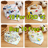 Buy 10 Free 1 Cartoon Newborn Baby Burp Bandana Bibs Cotton Soft Kids Toddler Triangle Scarf