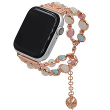 Applicable To For Apple 1/2/3/4 Representative Belt Luminous Beads Metal Watch With Watch4