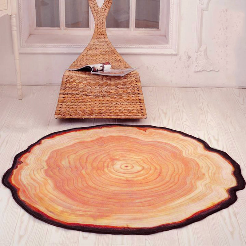 Wood Flooring Carpet Area Rug For Living Room Bedroom Computer Sofa Round Carpet Kids Play Mat