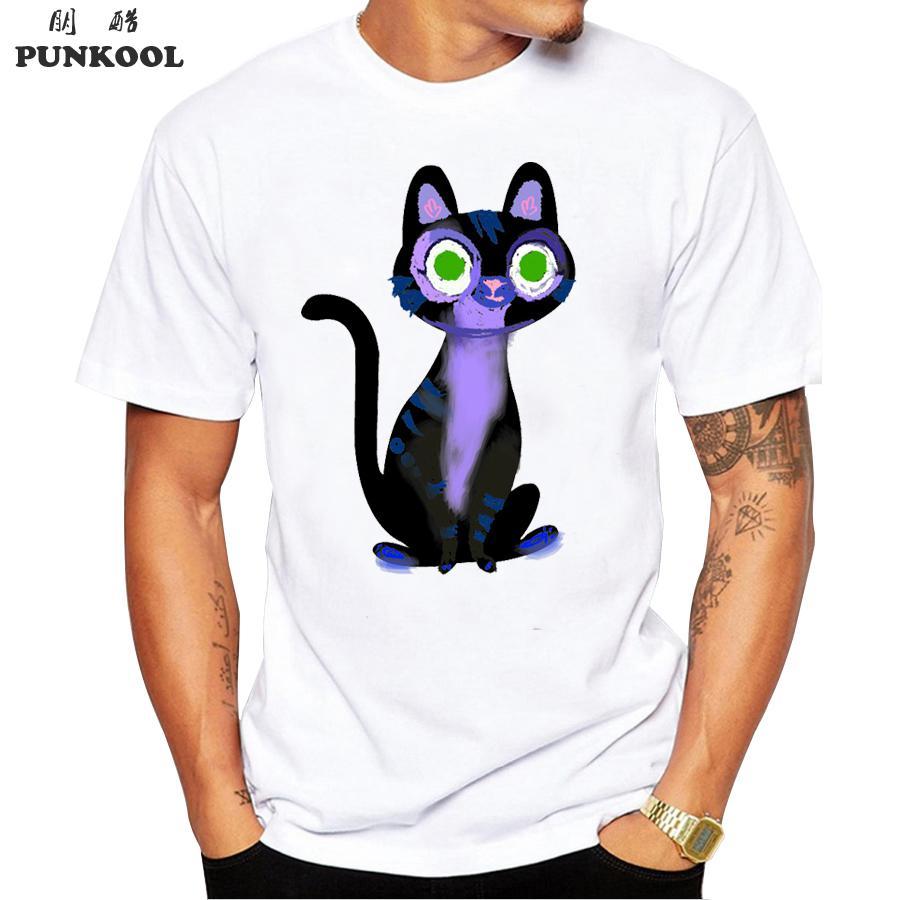 line Get Cheap Cat T Shirts Mens Aliexpress