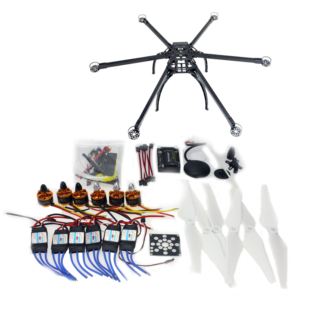 Six-Axis Folding Hexacopter Aircraft Unassembled Frame GPS Drone Kit with APM 2.8 Multicopter Flight Controller F10513-E drone upgraded apm2 6 mini apm pro flight controller neo 7n 7n gps power module