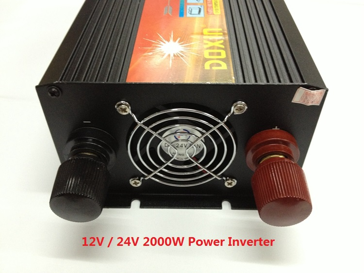 free shipping 2000W dc 12v input to ac 220v output or dc 24v input to ac 220v output modified wave Power Inverter